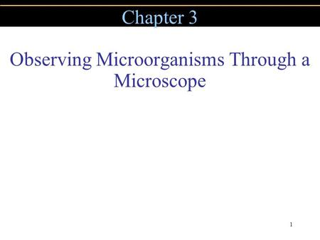 Copyright © 2004 Pearson Education, Inc., publishing as Benjamin Cummings 1 Chapter 3 Observing Microorganisms Through a Microscope.