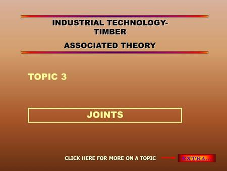 INDUSTRIAL TECHNOLOGY-TIMBER