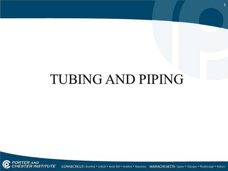 TUBING AND PIPING.