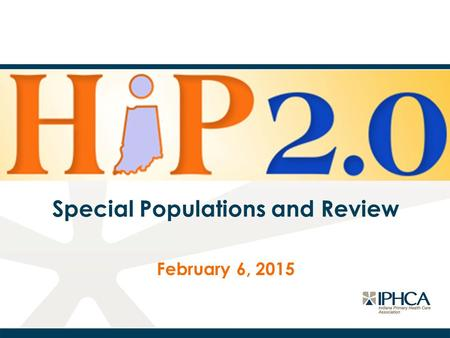 Special Populations and Review