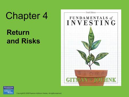 Chapter 4 Return and Risks.