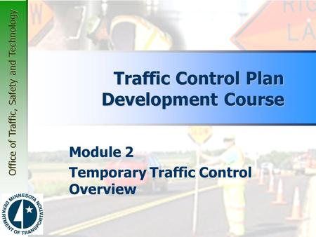 Traffic Control Plan Development Course