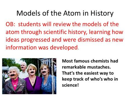 <strong>Models</strong> <strong>of</strong> the <strong>Atom</strong> in <strong>History</strong>