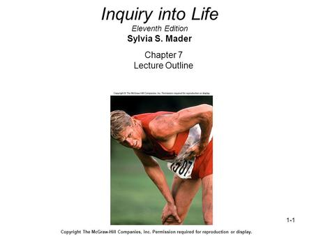 Inquiry into Life Eleventh Edition Sylvia S. Mader