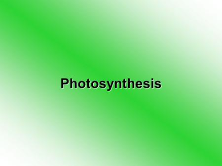 Photosynthesis. Photosynthesis Photosynthesis is the way that plants make food from sunlight –You take in food which is digested and then transferred.