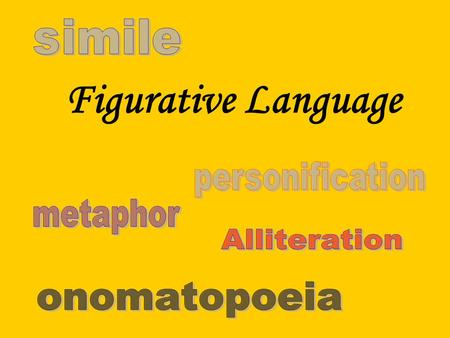 Figurative Language The opposite of literal language is figurative language. Figurative language is language that means more than what it says on the.