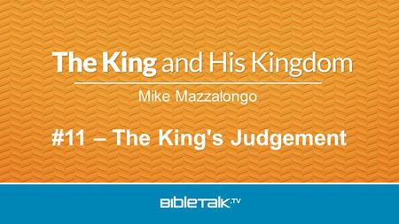Mike Mazzalongo #11 – The King's Judgement. Jesus came out from the temple and was going away when His disciples came up to point out the temple buildings.