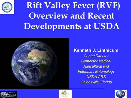 Rift Valley Fever (RVF) Overview and Recent Developments at USDA