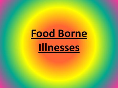 Food Borne Illnesses What are Food Borne Illnesses? An illness that comes from the ingestion of contaminated food Often called food poisoning Two types: