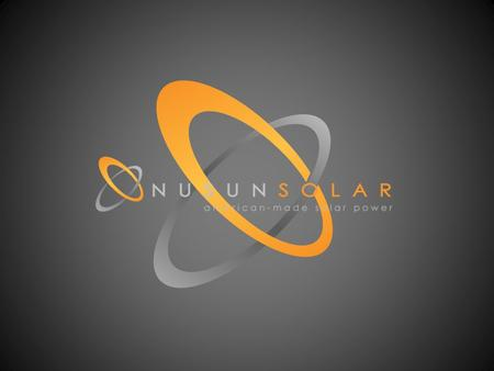 TRANSITION TITLE. SOLAR MANUFACTUING & TECHNOLOGY RYAN STOUT, FOUNDER & CEO.