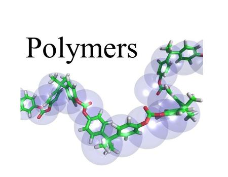 Polymers. Describe the process of polymerization and identify important natural and synthetic polymers Additional KEY Terms monomer.