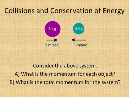 Collisions and Conservation of Energy