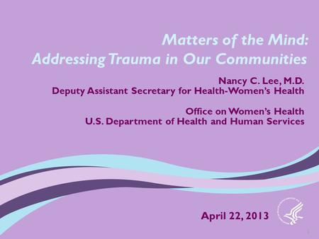 Addressing Trauma in Our Communities