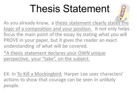 thesis statement on racism in to kill a mockingbird
