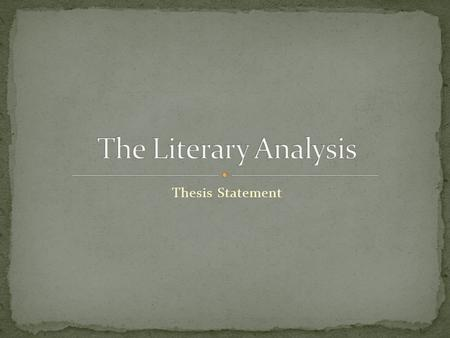Thesis Statement. What is a thesis? It is a claim It introduces the argument you are about to make Argument? This means you are stating your opinion-