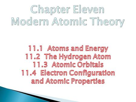 1. To describe Rutherford's model of the atom 2. To explore the nature of electromagnetic radiation 3. To see how atoms emit light 11.1 Objectives.