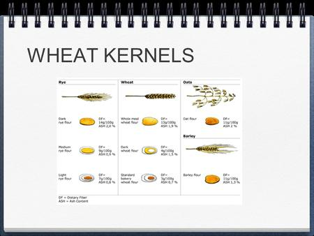 WHEAT KERNELS. STARCHES i. Cornstarch - Sets up similar to gelatin when cooked. Used to thicken cream pies and custards. ii. Waxy maize - Does not break.