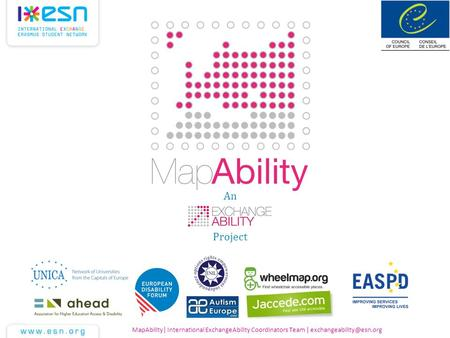 MapAbility| International ExchangeAbility Coordinators Team | An Project.