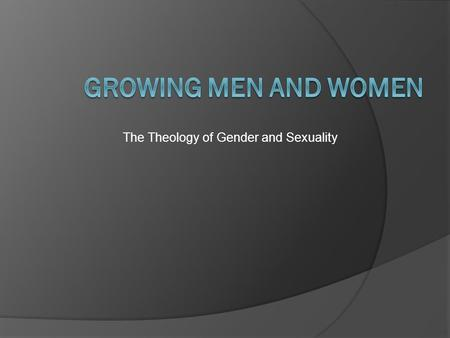 The Theology of Gender and Sexuality. Submission — women to men 1 Corinthians 11:3-16 1 Corinthians 14:34 Ephesians 5:22-24 Colossians 3:18 1 Peter.