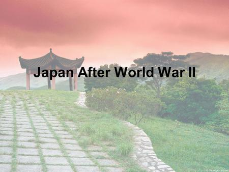 Japan After World War II. Enduring Understandings 1.Conflict and Change: When there is conflict between or within societies, change is the result. 2.