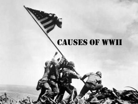 Causes of WWII. Background – TOTALITARIANISM – Form of government in which the government controls every aspect of life – FASCISM – The importance of.