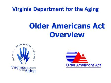 Older Americans Act Overview