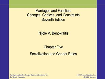 Socialization and Gender Roles