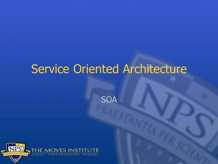 Service Oriented Architecture SOA. SOA has been the New New Thing for the last few years in enterprise software As with everything that gains visibility.