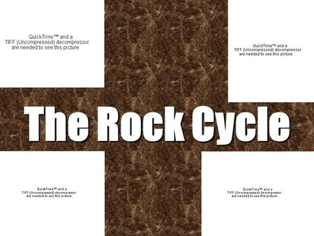 The Rock Cycle. THE ROCK CYCLE Rocks are constantly being formed, worn down and then formed again. This is known as the Rock Cycle It takes thousands.
