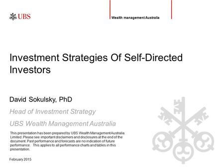 Introduction Self–directed investors are becoming increasingly sophisticated in terms of how they invest and what they demand of service providers HNW.