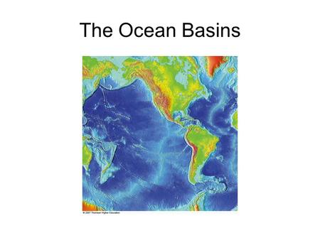 The <strong>Ocean</strong> Basins. <strong>Ocean</strong> Basins <strong>Oceans</strong> are all connected, so it's really just 1 big <strong>ocean</strong>! 5 <strong>ocean</strong> basins –Atlantic –Pacific –Indian –Antarctic (Southern)