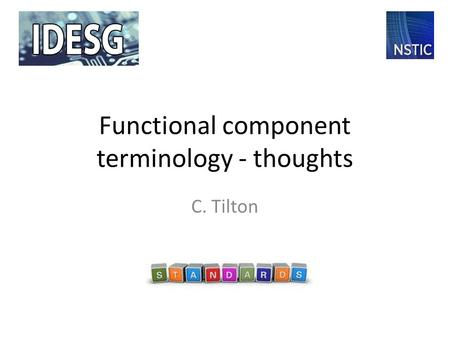 Functional component terminology - thoughts C. Tilton.