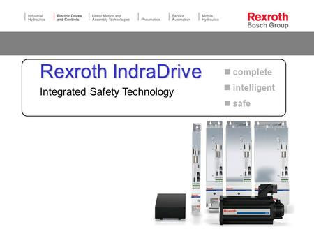 Rexroth IndraDrive Integrated Safety Technology