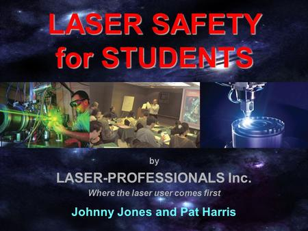 LASER SAFETY for STUDENTS