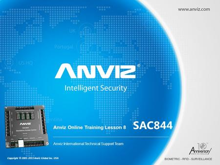 SAC844 Anviz Online Training Lesson 8