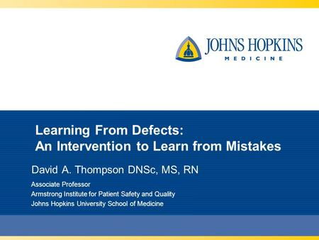 Learning From Defects: An Intervention to Learn from Mistakes