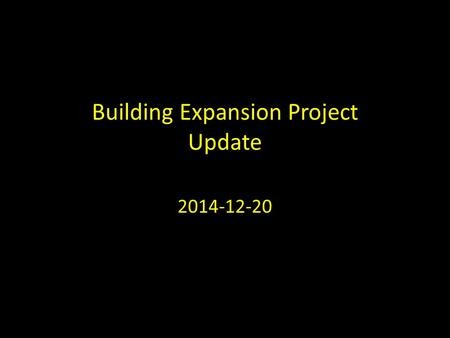 "Building Expansion Project Update 2014-12-20. 4.9 ECCC 4.9 Growth Strategy We will continue to grow as a ""one site multi congregations & services"" church."