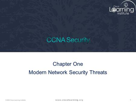 Chapter One Modern Network Security Threats