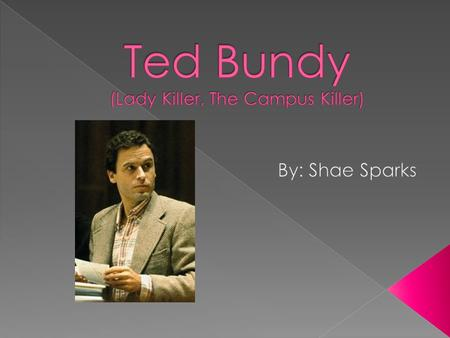 Ted Bundy (Lady Killer, The Campus Killer)