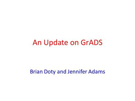 Brian Doty and Jennifer Adams