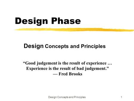 Design Concepts and Principles