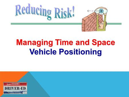 Managing Time and Space Vehicle Positioning. USE ANY OF THESE VISUAL TECHNIQUES 1.IPDE 2.The Smith System 3.Zone Control.