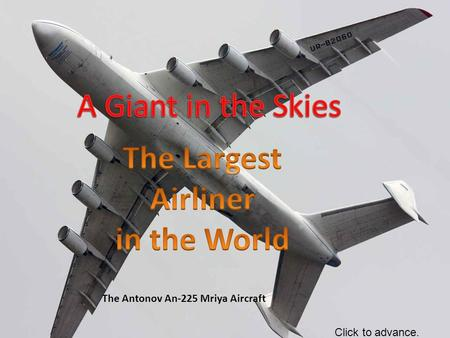 The Largest Airliner in the World