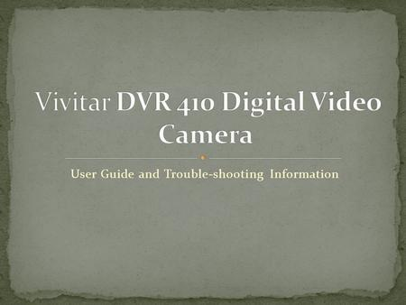 User Guide and Trouble-shooting Information. A classroom set of 20 cameras are available for teacher and student use. Capable of taking video, but recommend.