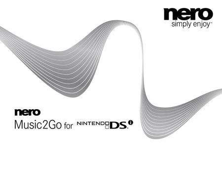 "2 What is Nero Music2Go? Audio encoding solution for Nintendo DSi Sound Nero provides the application which can create audio files, compatible with ""Nintendo."