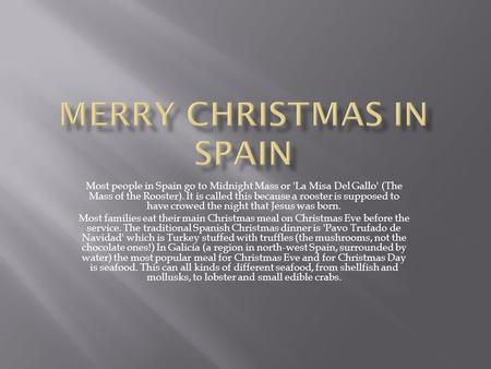 merry christmas in spain