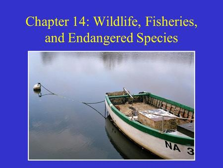 Chapter 14: Wildlife, Fisheries, and <strong>Endangered</strong> <strong>Species</strong>
