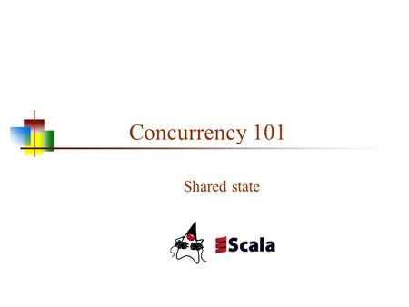 Concurrency 101 Shared state. Part 1: General Concepts 2.