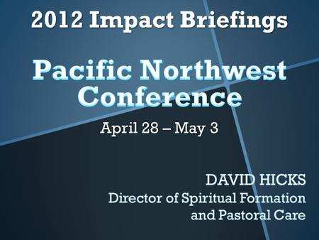 A strategic initiative of the Pacific Northwest Conference of the Free Methodist Church aimed at helping pastors and ministry leaders live and lead from.