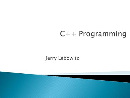 Jerry Lebowitz. Topics  Provides a facility for a systematic object oriented approach to handling runtime errors ◦ Can also handle runtime errors.